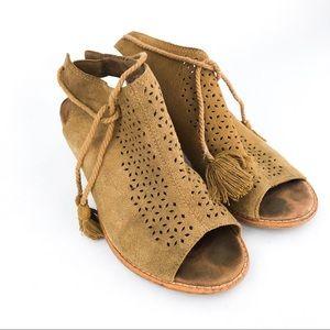 My tan TOM's chunky heels